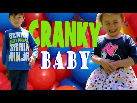 Backyard ball pit!!! Ball Pit Balls! FUN! Cranky Baby! Crying Baby!