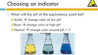 12.6 - Titrations and Indicators