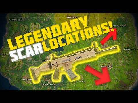 BEST PLACES TO FIND SCARS In FORTNITE!! - FORTNITE BATTLE ROYALE