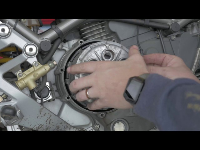 Ducati Monster 900S Clutch Inspection Cleaning and Reassembly