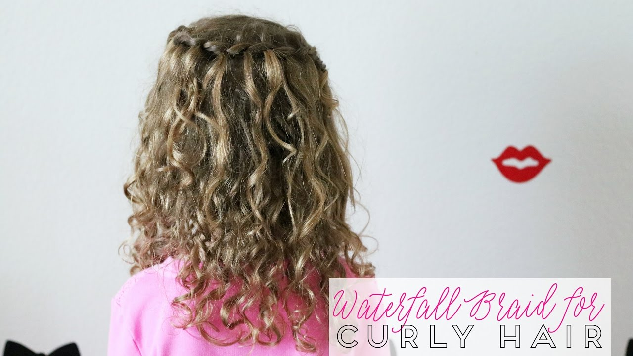 Waterfall Braid for Curly Hair - YouTube