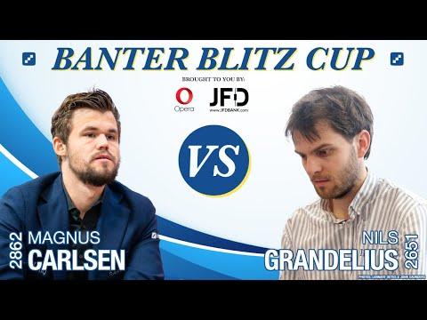 World Champion Magnus Carlsen Vs. GM Nils Grandelius | Banter Blitz Cup