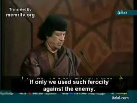 Gaddafi speech:'America hanged Saddam and we might be next! (with English)