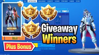 Fortnite Season 10 Battle Pass Giveway Winners - Thank You For 2k Subs Plus Bonus Winner