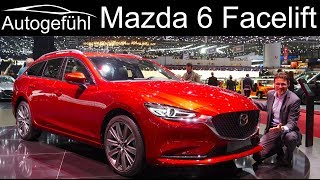 2019 Mazda6 Facelift REVIEW Estate Wagon vs Sedan comparison #GIMS2018 - Autogefühl