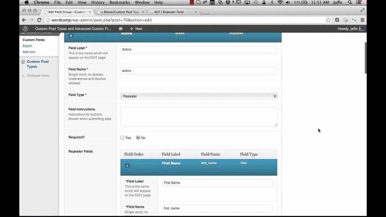 custom post types ui and advanced custom fields part 3 youtube