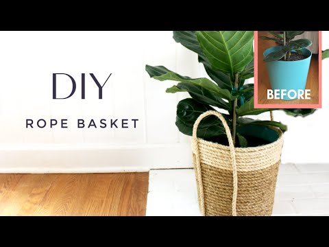 Easy DIY Rope Basket | How to Make a Two-Toned Rope Basket | Artisan-Inspired Home Decor on a Budget
