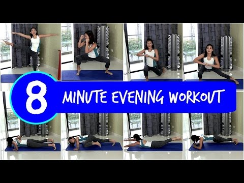 8-Minute Evening Workout Before Bed (No Equipment!)