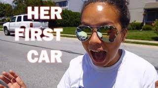 SURPRISED my DAUGHTER with a NEW car!!!