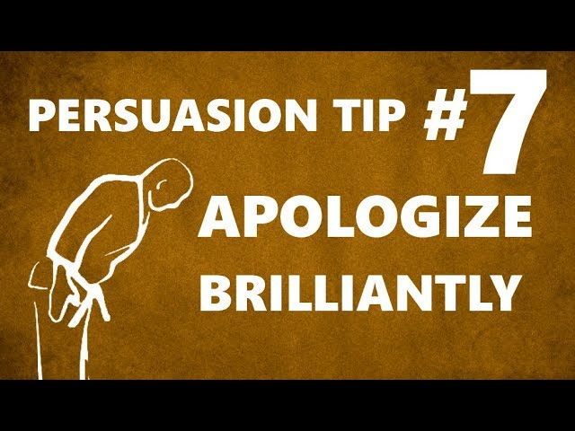 Jay Sankey: Persuasion Tip #7 'APOLOGIZE BRILLIANTLY'