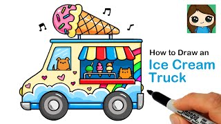 How to Draw an Ice Cream Truck  Summer Art Series #10