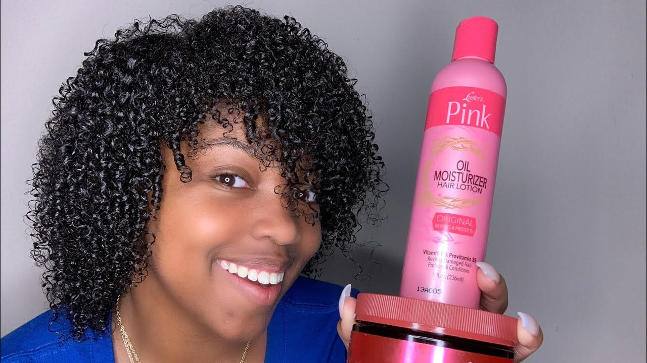 SUPER Defined Wash-N-Go Using Lusters Pink!