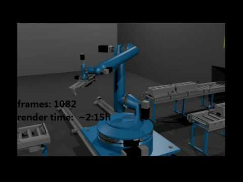 industrie robot animation, Blender