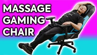 This massage gaming chair is TOO comfortable