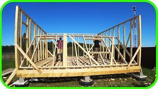 Country house with your own hands! Frame walls 1st floor! DIY!