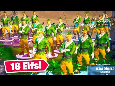16 *RARE* OG Elf Skins in 1 Fortnite Lobby!