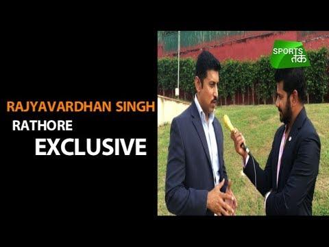 Watch Rajyavardhan Singh Rathore Exclusive with Vikrant Gupta   Sports Tak