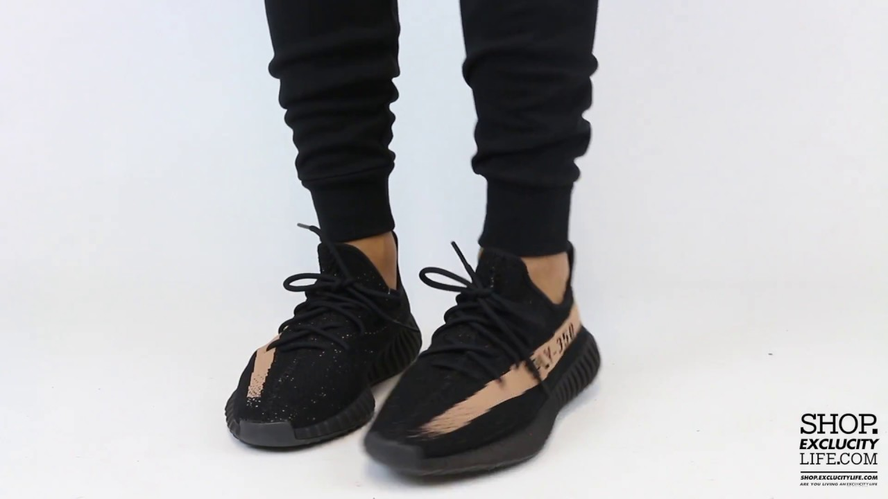 sports shoes ba06f 778be Adidas Yeezy Boost 350 V2 Black - Copper On-feet Video at Exclucity