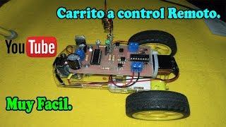 Como hacer un carrito a control remoto RF