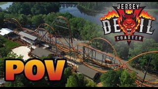 Jersey Devil Coaster POV    Six Flags Great Adventure