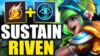 ULTIMATE RIVEN SUSTAIN SETUP! (UNKNOWN RIVEN RUNES) - League of Legends Season 10 Riven Gameplay