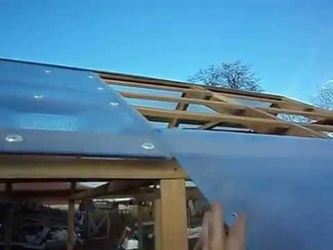 Теплица из сотового поликарбоната Агроном - YouTube