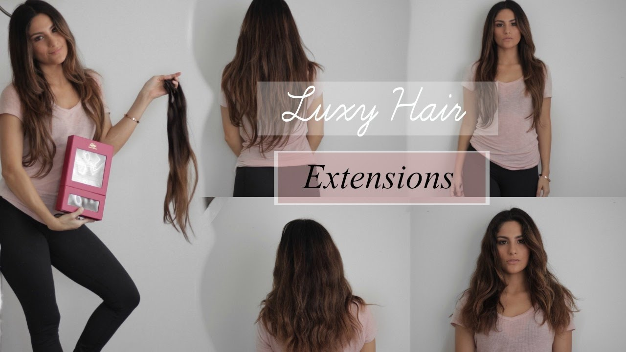 Luxy Hair Extensions Review Ombre Chestnut 160 Gram Youtube