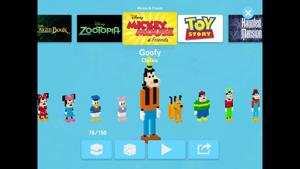 Disney Crossy Road Gameplay Goofy Mickey Mouse Friends IOS Android By