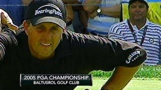 Phil Mickelson wins 2005 PGA Championship at Baltusrol