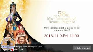 Live Streaming Miss International 2018