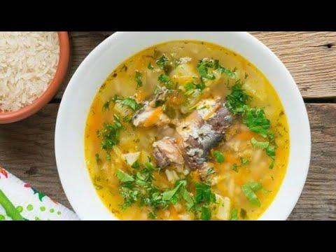 Суп из рыбной консервы за 20 минут.  Супербыстрый,  экономный и вкусный суп.