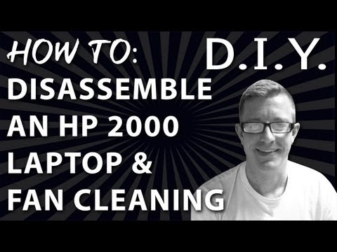 How to HP 2000 Laptop Fan Cleaning & Disassembly - Step by Step