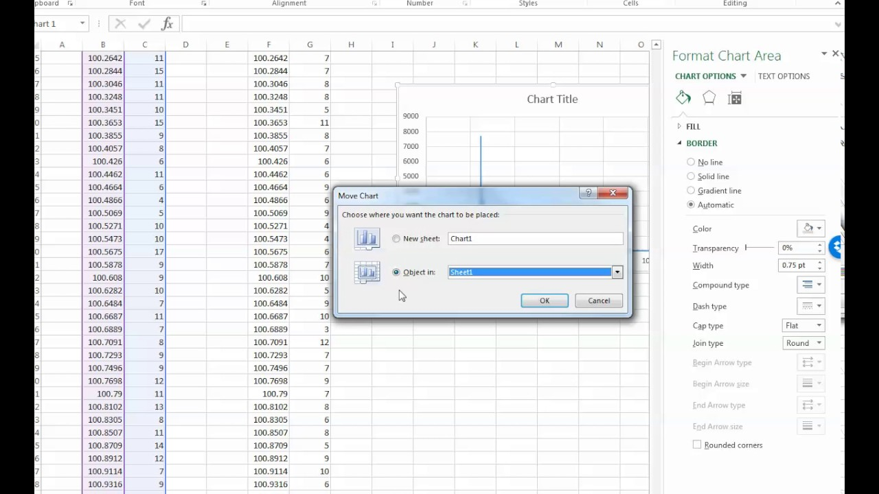 How to make XRD graphs in Excel from UXD files