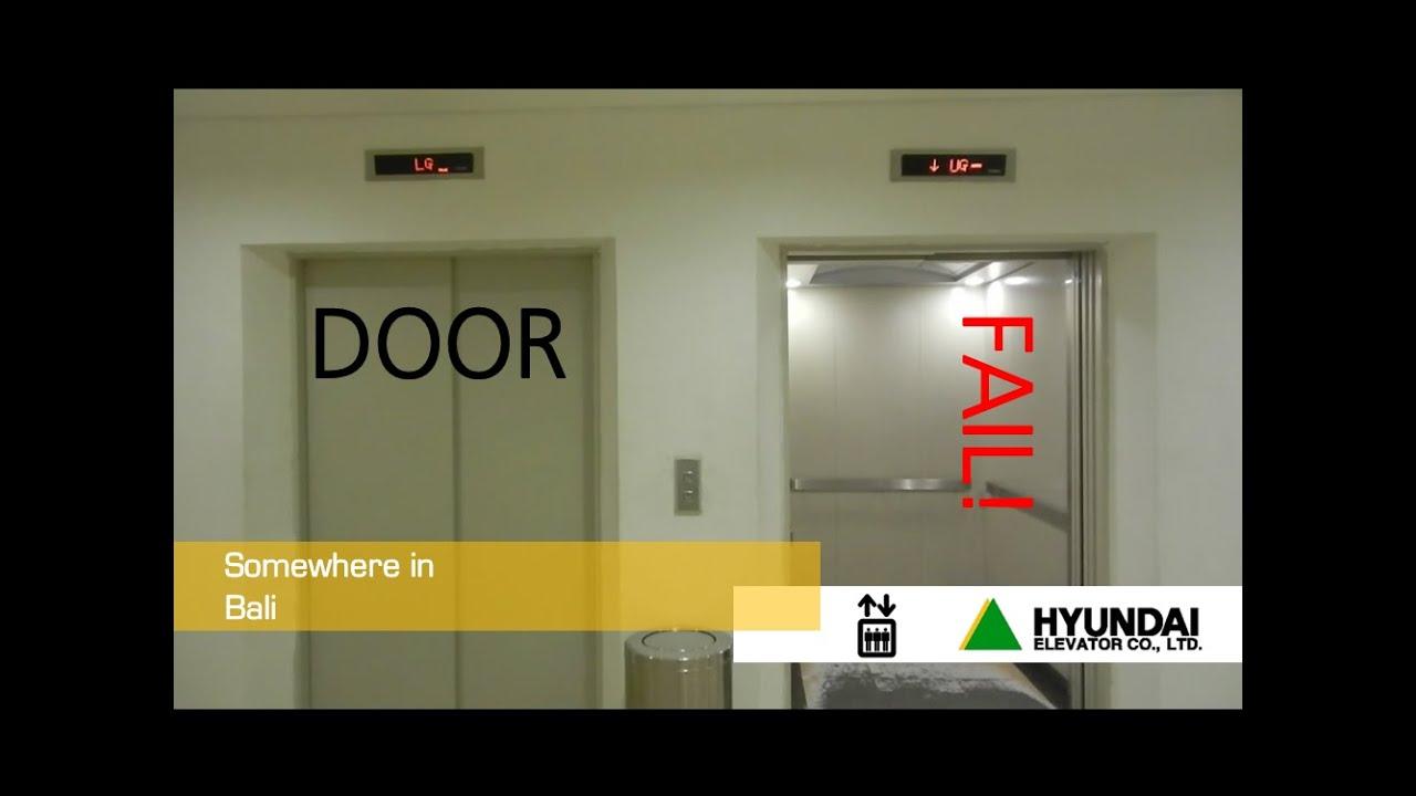 Hyundai Service Elevator With Door Problem Youtube