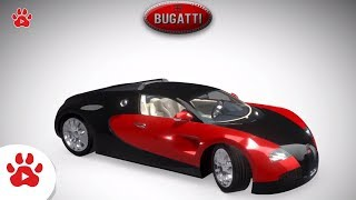 Bugatti Veyron Chevrolet Camaro BMW Buick Lesabre | Super Cars for Kids | #h Colour Song for Kids
