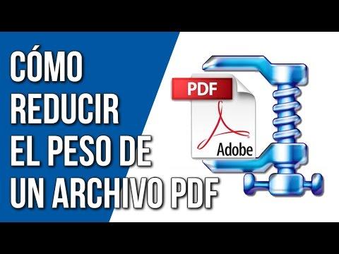 Archivo como pdf tamano reducir de un puedo