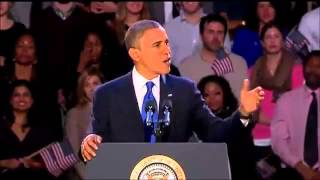 Obama Re-Elected: Full Victory Speech 2012 U.S. Presidential Election