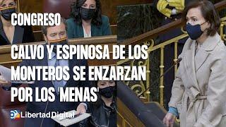 Calvo y Espinosa de los Monteros se enzarzan por cartel electoral sobre 'menas'