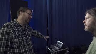 James Towler shows his studio setup