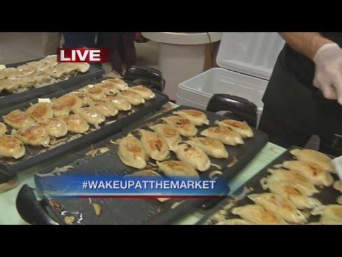Homemade Pierogi at the Broadway Market