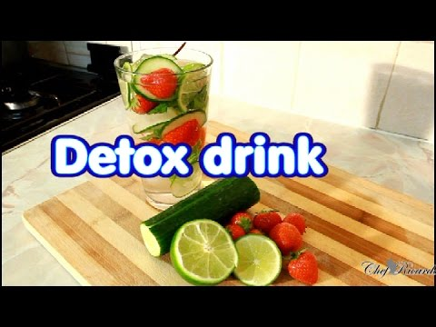 Detox Drink To Help Eliminate Fat Strawberry, Lemon, Cucumber And Mint |  Recipes By Chef Ricardo