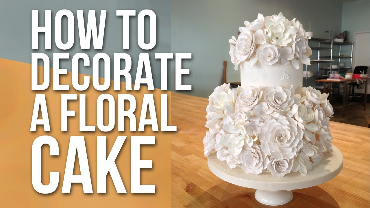 How to decorate a white floral cake cake tutorials youtube for How to decorate