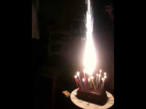 Exploding Candle 18th Birthday Cake