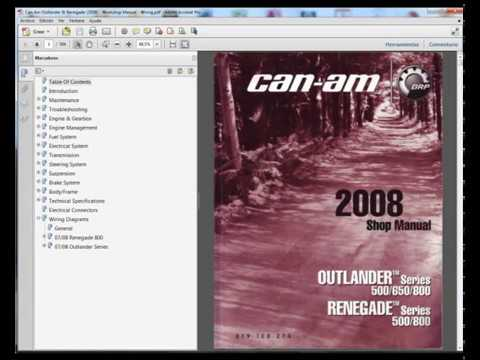 2006 can am outlander 650 wiring diagram 2005 ford focus headlight renegade 2008 service manual