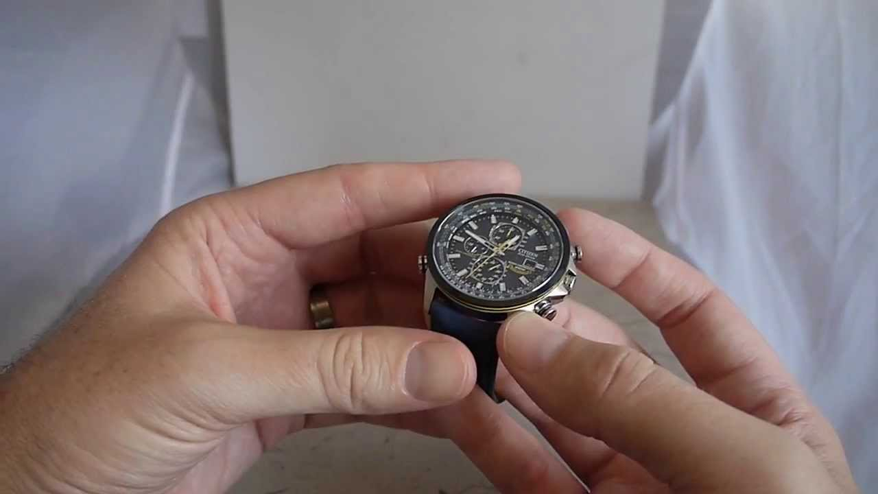 3813b7016ab Citizen Blue Angels World Chronograph A-T AT8020 Watch Review - YouTube