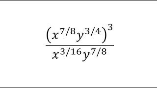 Simplify An Expression with Rational Exponents (Positive Only) Power/Quot