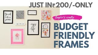 Diy    Make Your Own Gallery Wall Frames At Home   Inspirational Gallery Frames And Canvas Frames