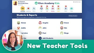New Teacher Tools on Khan Academy Kids!