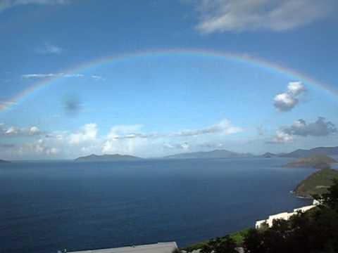 Rainbow from our balcony St Thomas Virgin Islands
