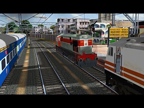 Shunting Duty | Ahmedabad Railway Station | Ahmedabad Mumbai Central Shatabdi Express MSTS Open Rail